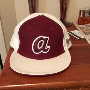 Atlanta Braves Auburn colored fitted